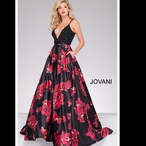 Jovani Ballgown satin prom dress model# 47419